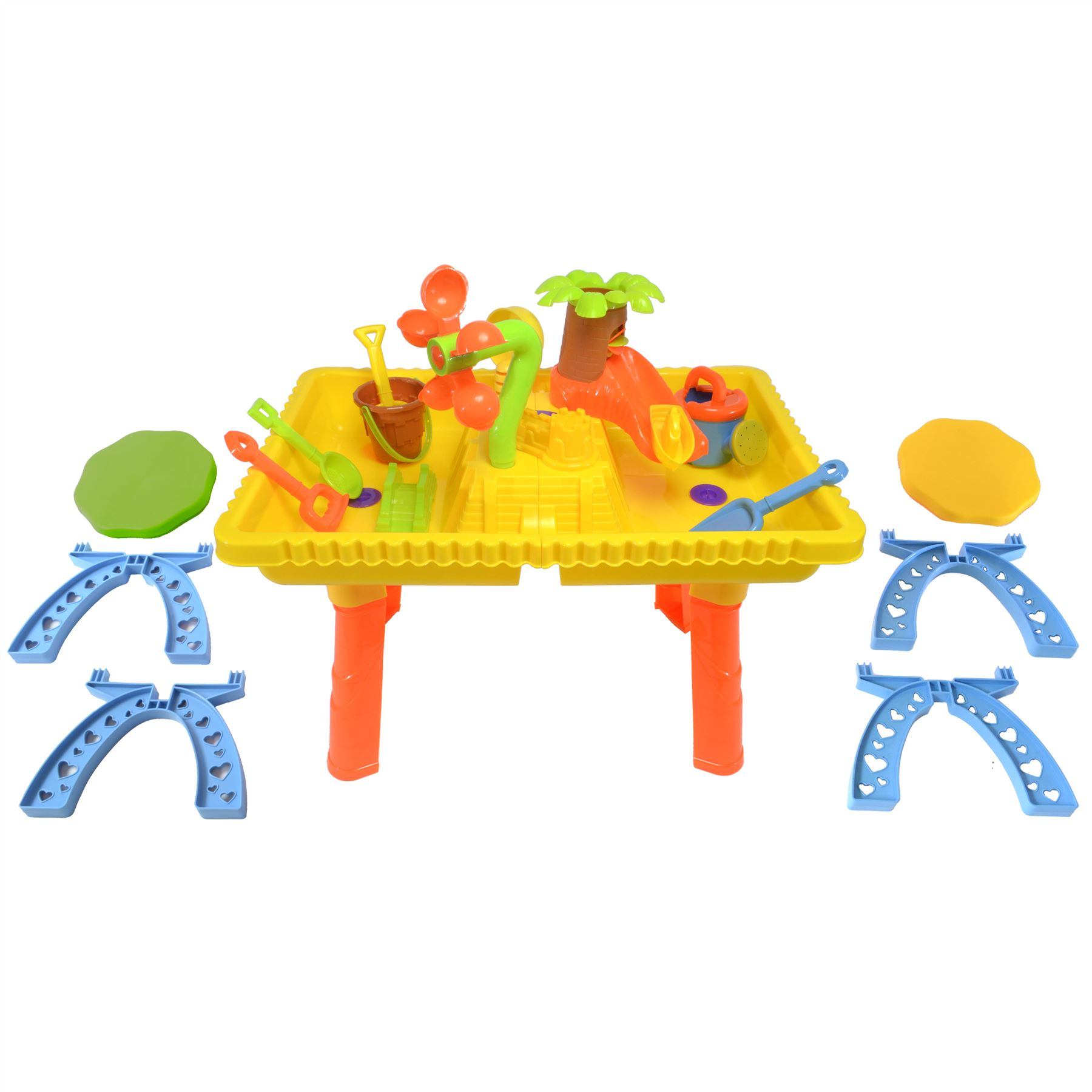 Castle Sand and Water Table set with 2 seats and 10 pieces 9809 7