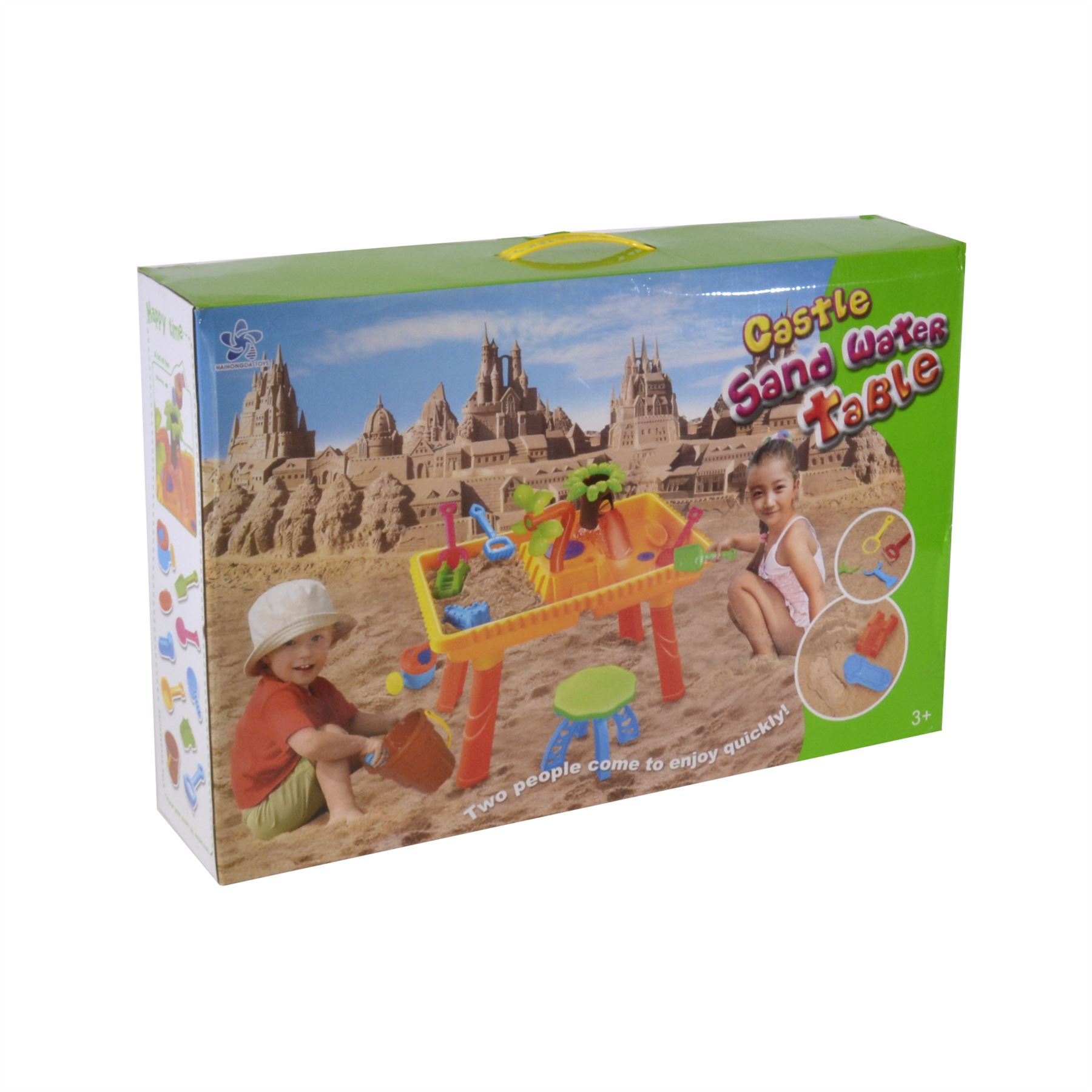 Castle Sand and Water Table set with 2 seats and 10 pieces 9809 9