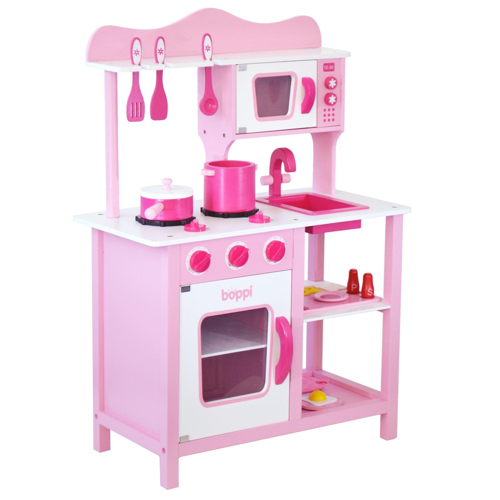 Bambini ragazze rosa giocattolo in legno cucina with 20 for Cocina juguete imaginarium