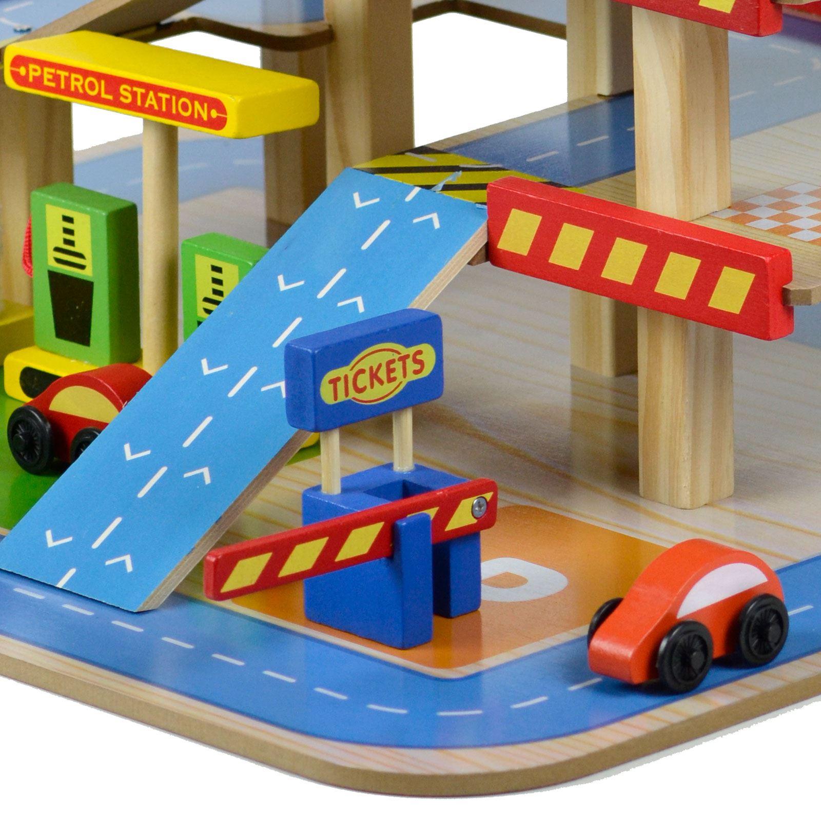 Wooden Multi Storey Car Park Petrol Garage Gas Station