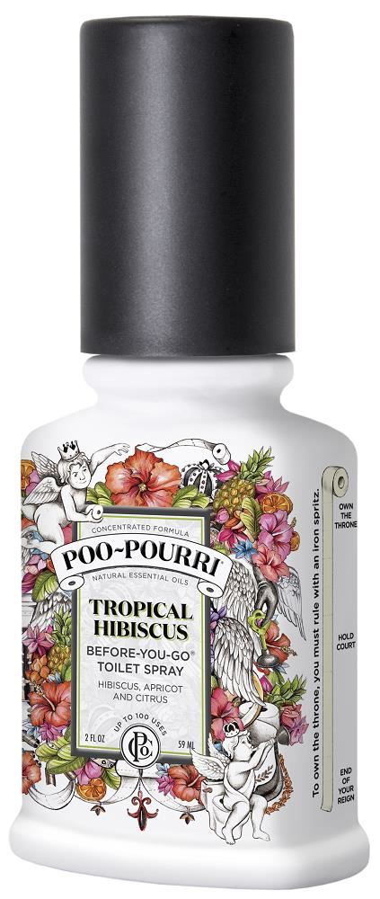 PooPourri BeforeYouGo Toilet Odor Neutralizer Spray Tropical - Bathroom odor neutralizer