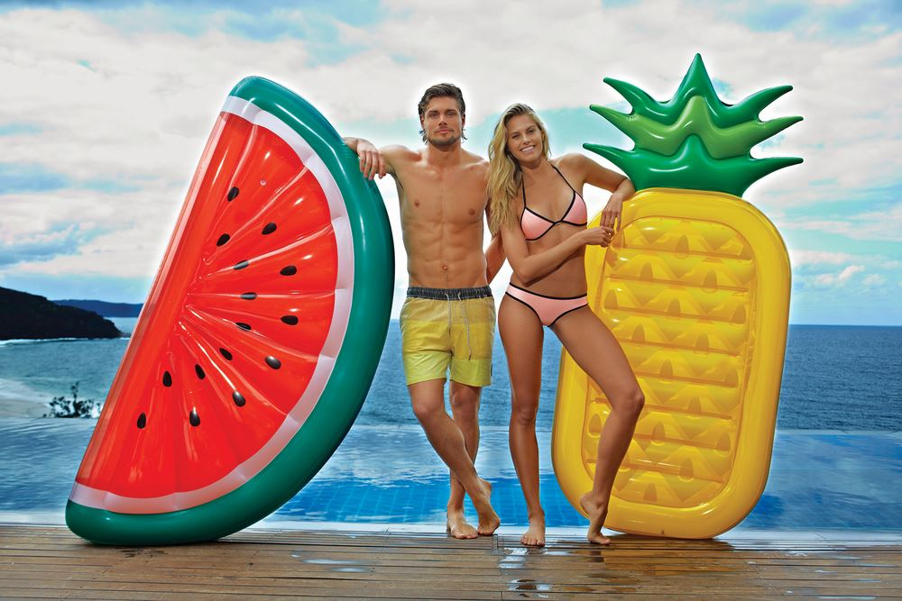Really Big Inflatable Pineapple Blow Up Pool Float Raft Adult Size By Sunny  Life