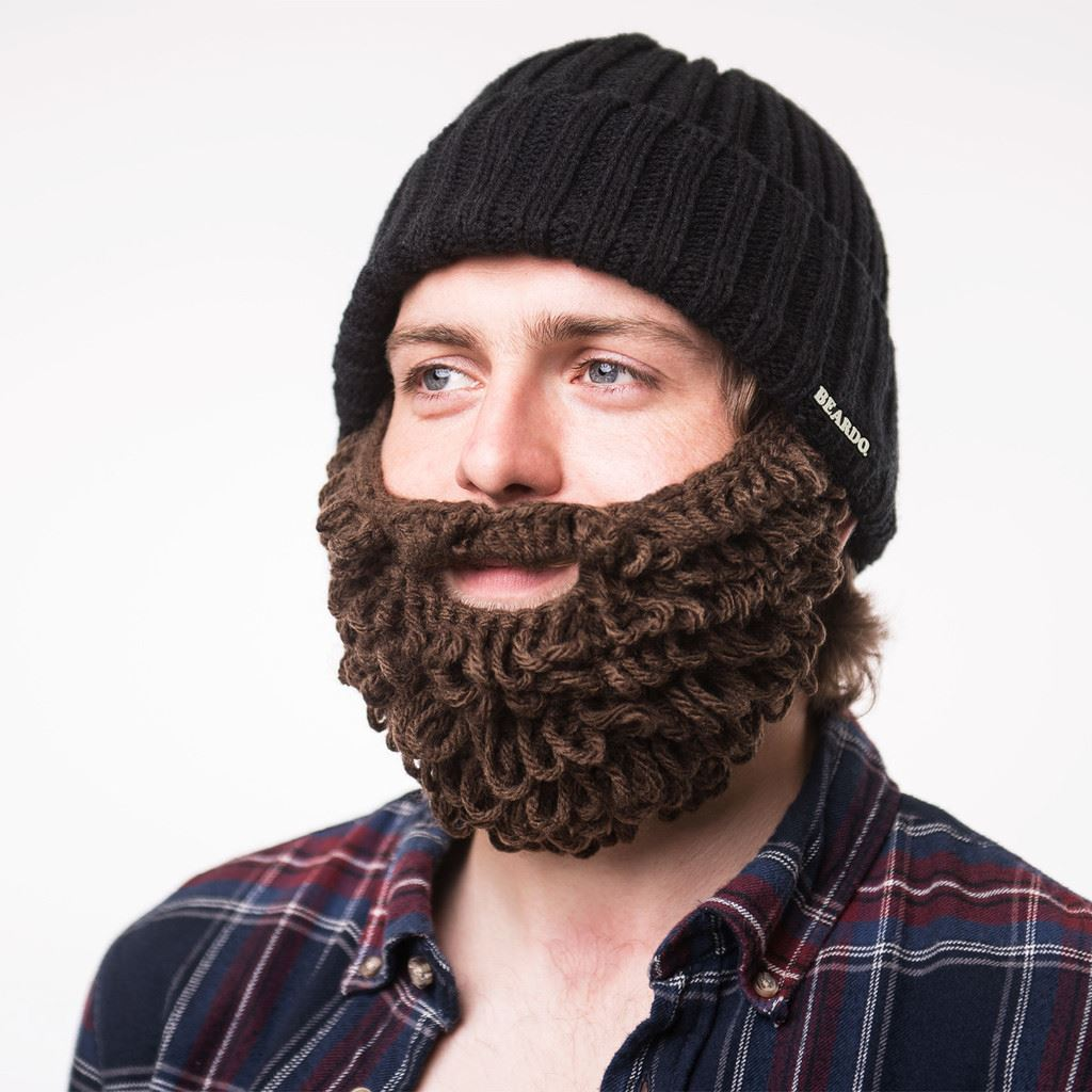 590186c615751 Details about Beardo - Burly Lumberjack Detachable   Adjustable Beard Hat  Beanie Face Warmer