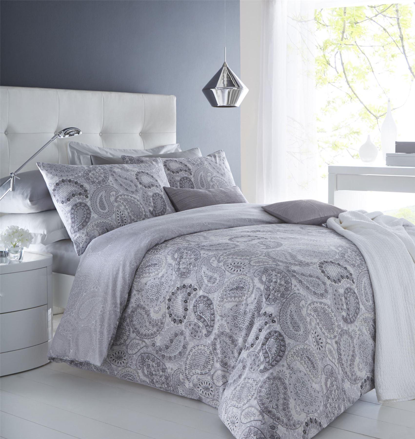 Paisley Duvet Quilt Bedding Cover Pillowcase Set Trivia