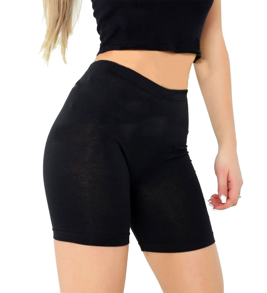 Womens-Fancy-1-2-Cotton-Legging-Novelty-Gym-Wear-Party-Dress-Shorts