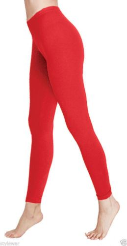 New-Deluxe-Quality-Cotton-Leggings-Full-Length-In-All-Sizes-and-All-Colours-8-16