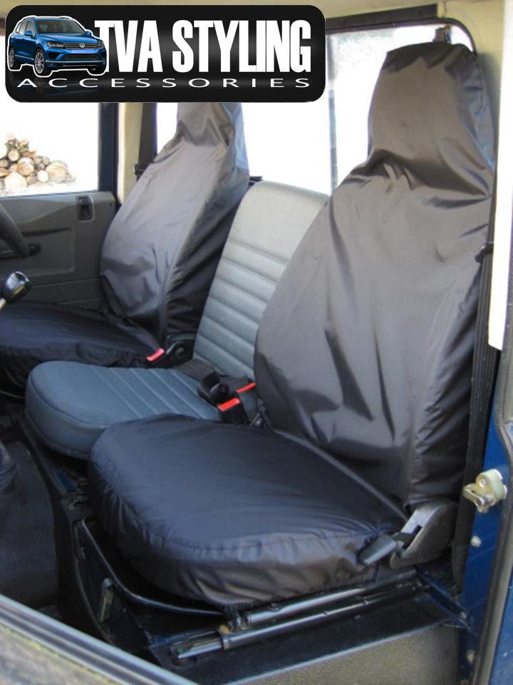 LAND ROVER DEFENDER SEAT COVERS 1983-2007 BLACK