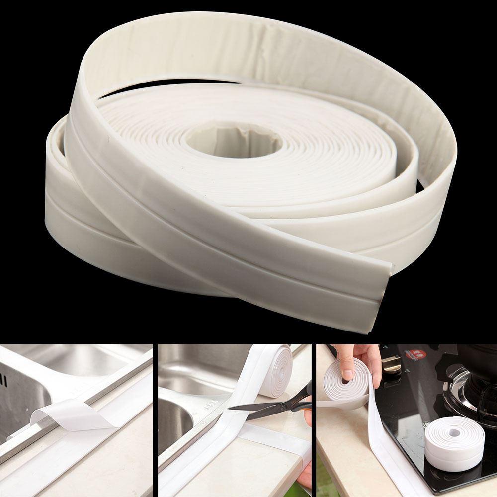 Bath Shower Tape Sealing Sealant Sink Basin White Strip