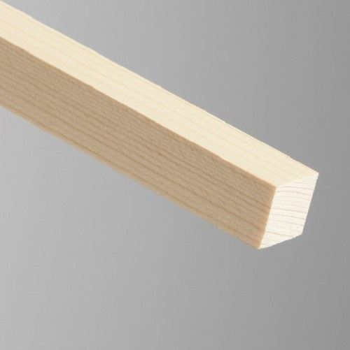 6 120cm 25x25mm Knotty Pine Timber Decorative Moulding Beading