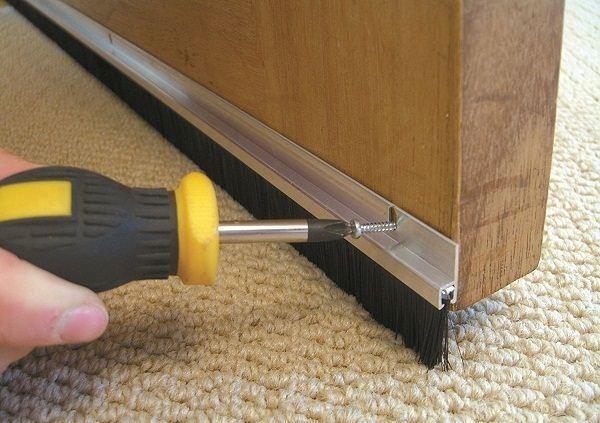 2 X Remi Aluminium Door Bottom Draught Excluder Brush