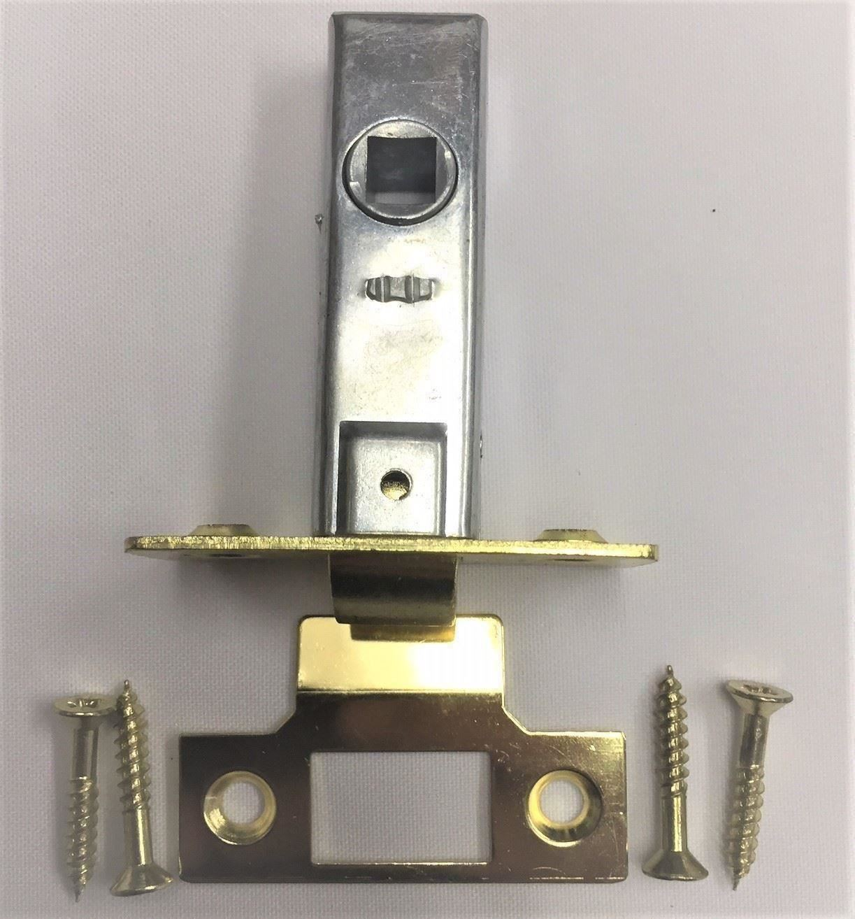 Fixations Pack de 6 Tubulaire à Mortaise Loquet De Porte Serrure Attraper 75 mm Cp