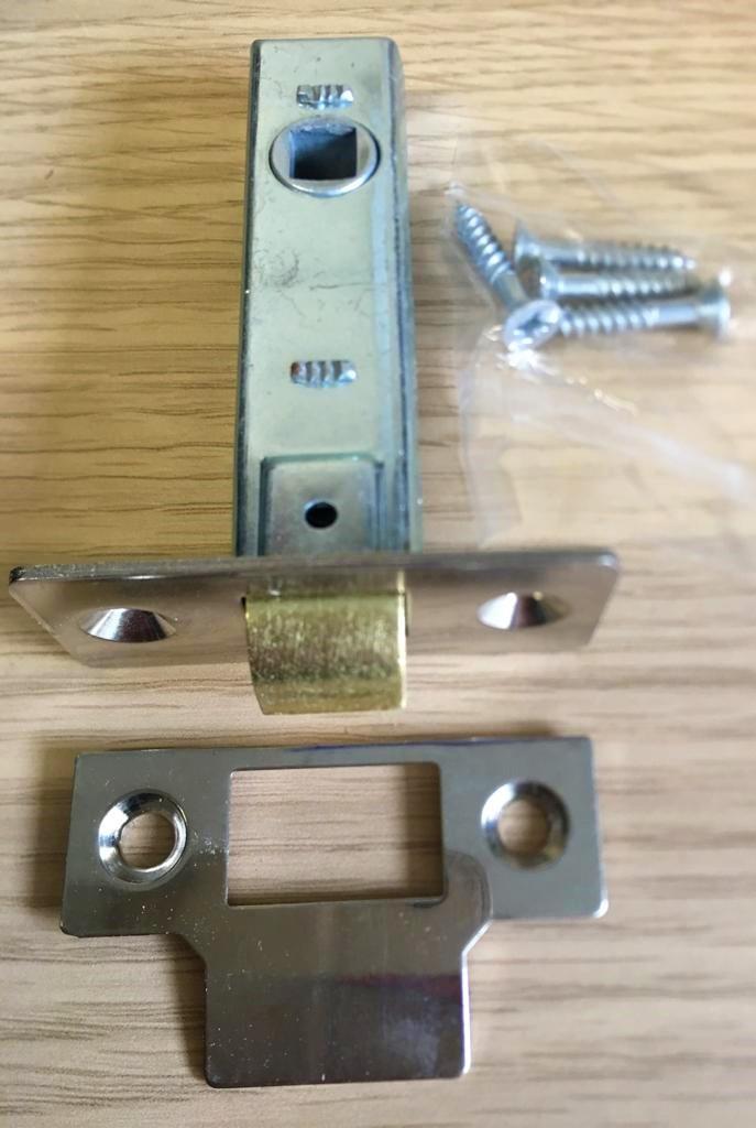 6x 65 mm BZP interne de Ressorts Catch tubulaire à Mortaise Porte Poignée De Levier Loquet