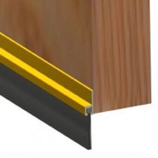 6 x REMI ALUMINIUM DOOR BOTTOM DRAUGHT EXCLUDER BRUSH STRIP SEAL 915mm LONG