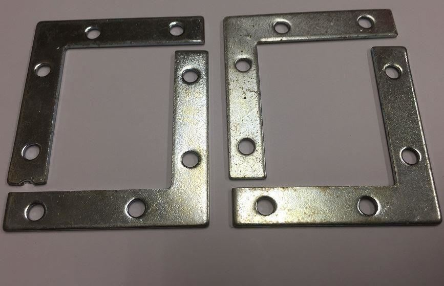 ANGLE MENDING BRACKETS PLATES FLAT T CORNER VERTICAL STRETCHER SLOT QTY 14