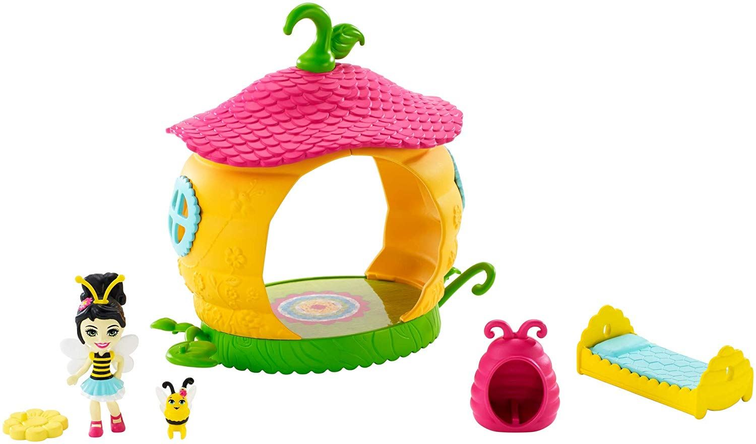"""Enchantimals Beehive Bedroom Playset with Beetrice Bee 2/"""" Doll New in Package"""
