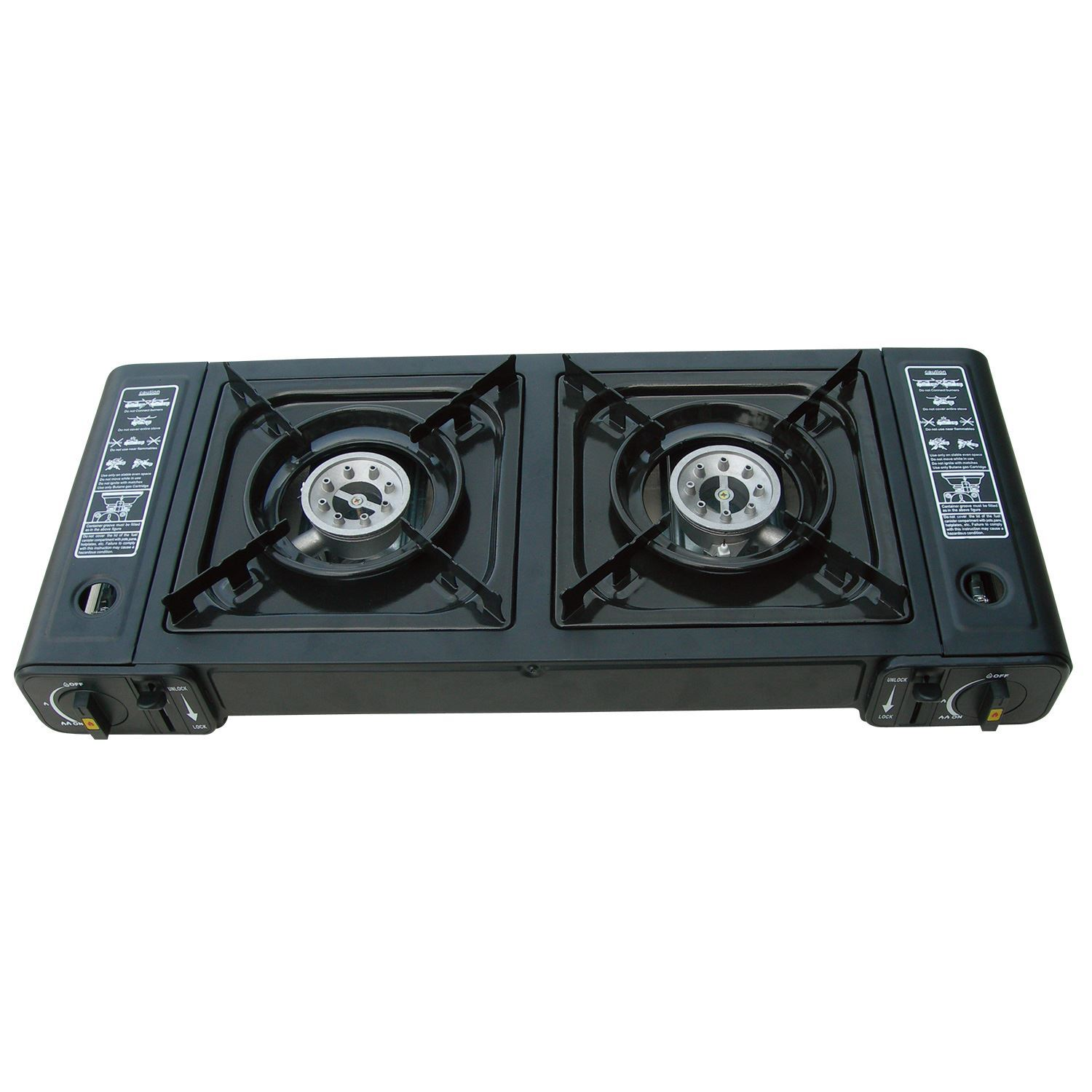 parkland portable double dual burner gas stove twin cooker camping fishing ebay. Black Bedroom Furniture Sets. Home Design Ideas