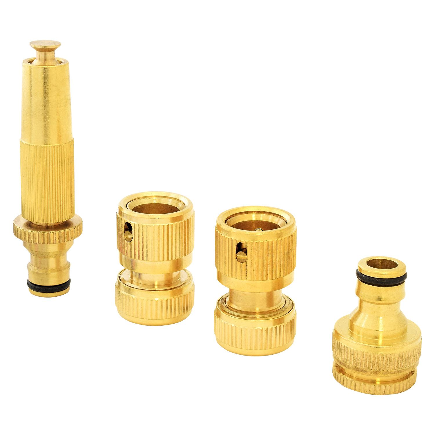 ... Picture 2 of 2  sc 1 st  eBay & Parkland 4pc Brass Hose Pipe Fitting Set Garden Tap Hosepipe Quick ...