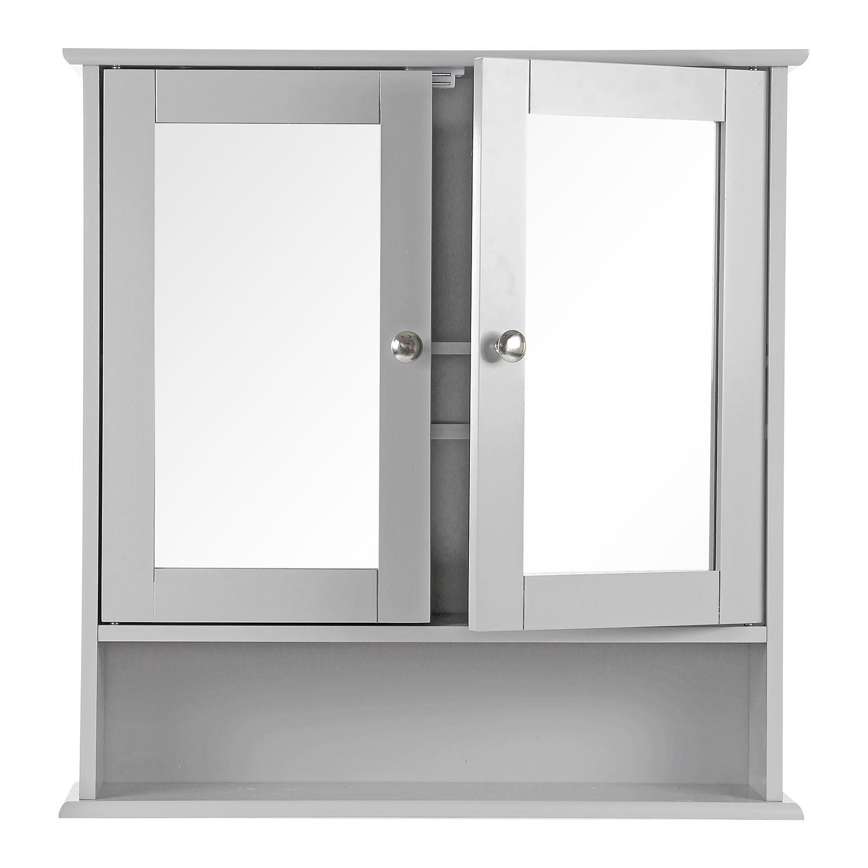 Grey-Wooden-Bathroom-Cabinet-Shelf-Cupboard-Bedroom-Storage-Unit-Free-Standing thumbnail 19