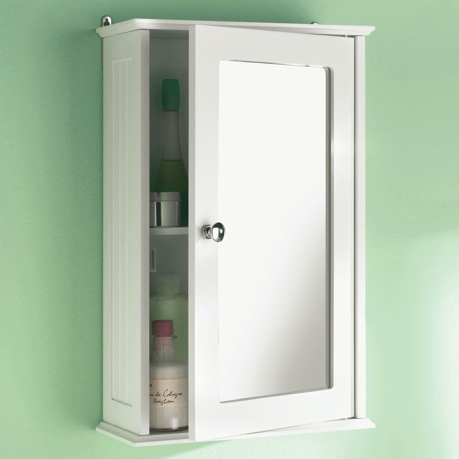 wall mounted bathroom wall cabinet single mirror door cupboard white rh ebay co uk solid wood white bathroom wall cabinet White Deep Wall Cabinet for Bathroom