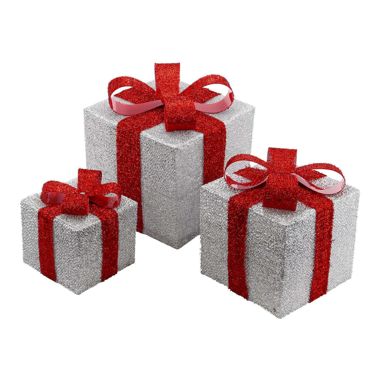Light Up Parcels Christmas Decorations Argos