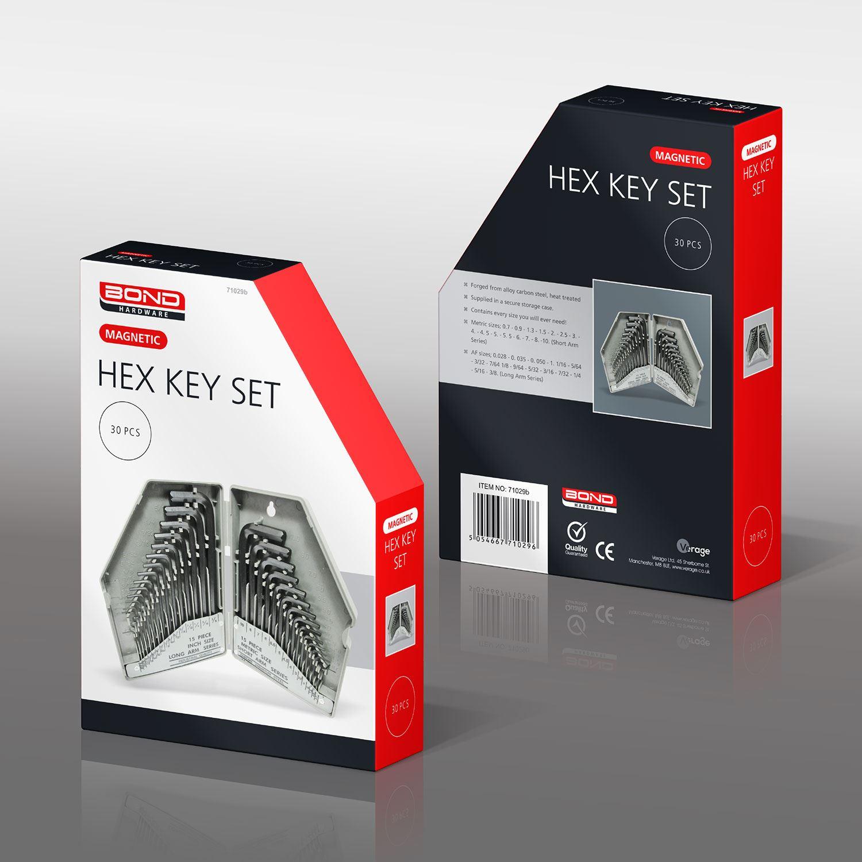 Metric /& Imperial Hex Key Allen Allan Alan Key Long Set Kit 30 Piece Neilsen