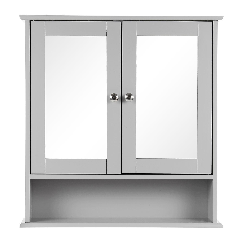 Grey-Wooden-Bathroom-Cabinet-Shelf-Cupboard-Bedroom-Storage-Unit-Free-Standing thumbnail 17