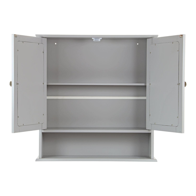 Grey-Wooden-Bathroom-Cabinet-Shelf-Cupboard-Bedroom-Storage-Unit-Free-Standing thumbnail 22