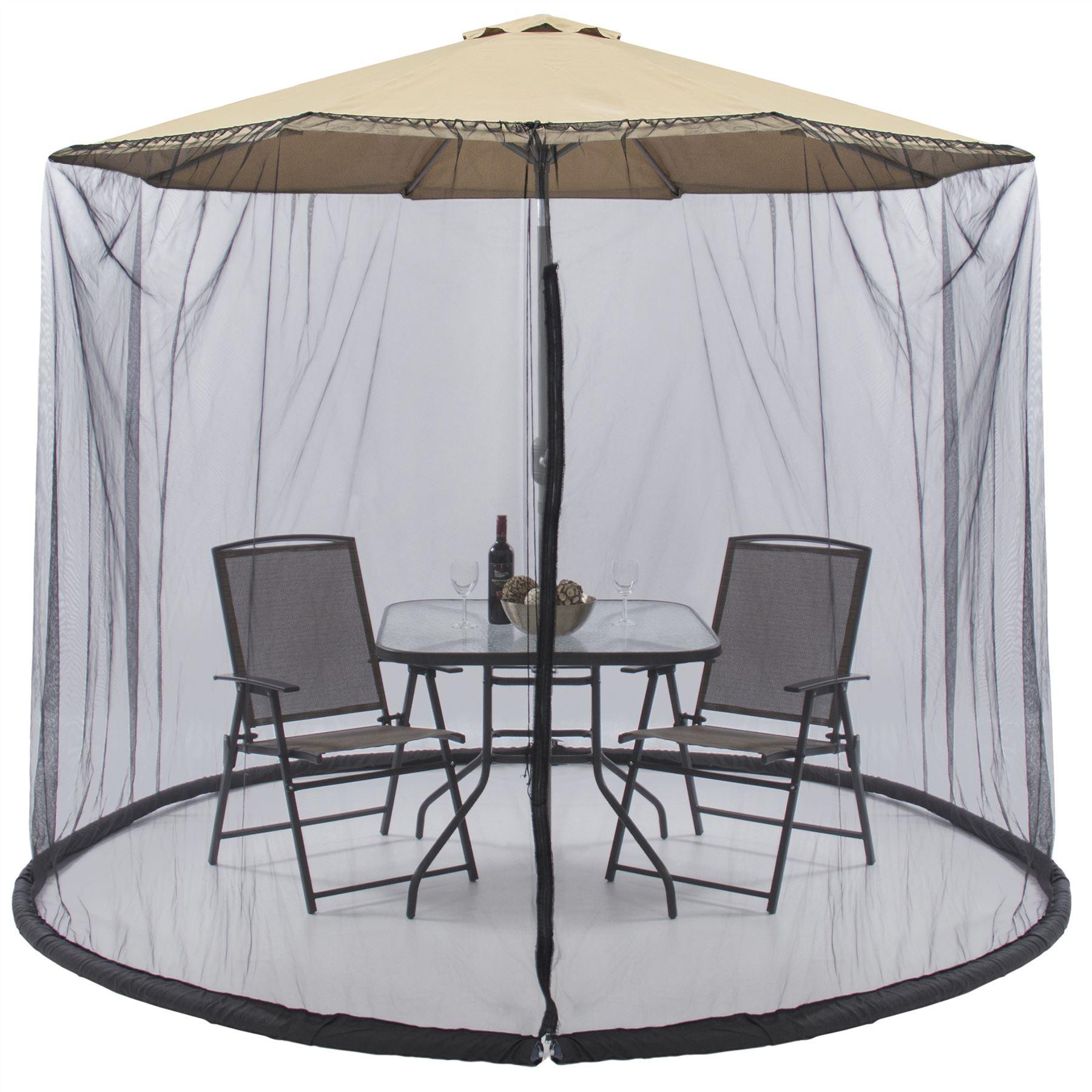 Outdoor Garden Patio Umbrella Parasol Mesh Net Screen