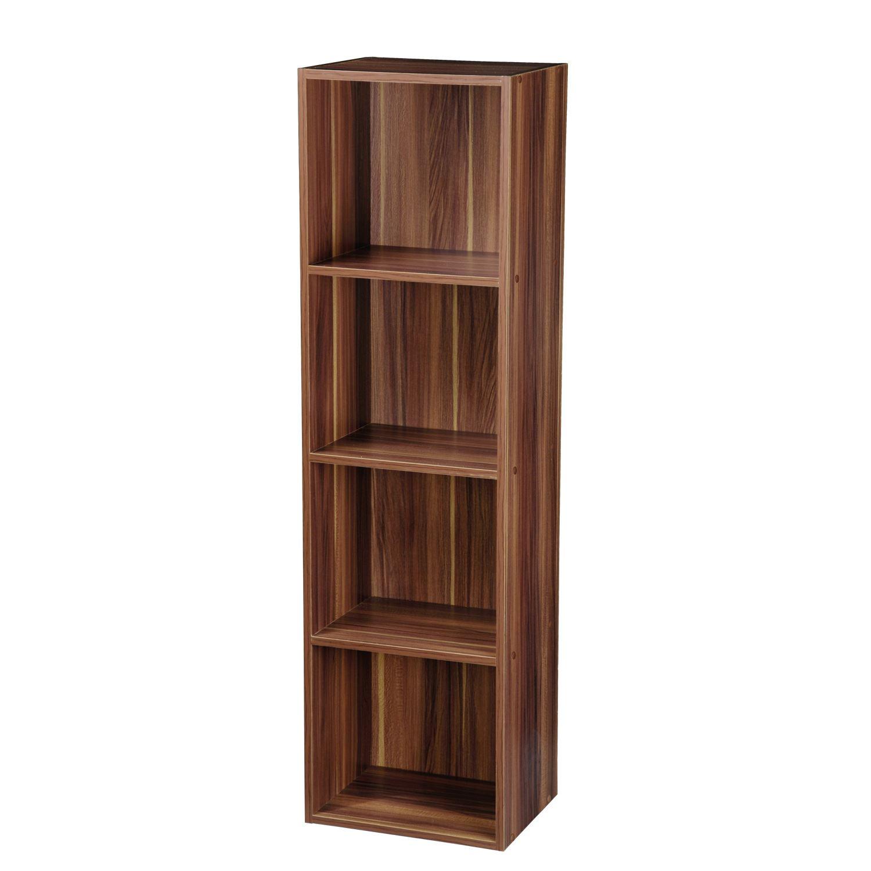 Wooden Display Shelf ~ Tier wooden bookcase shelving display storage