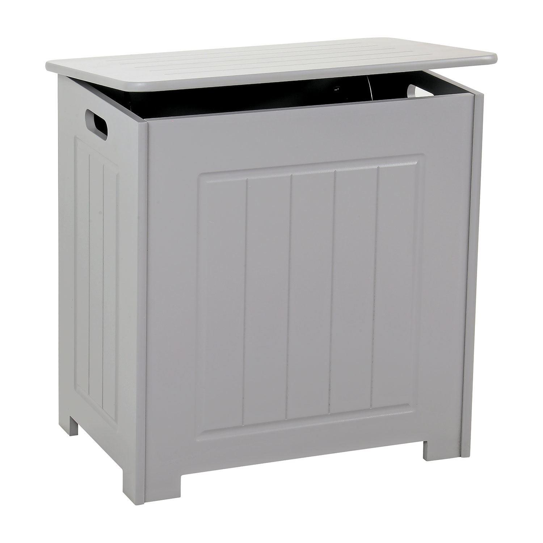 Grey-Wooden-Bathroom-Cabinet-Shelf-Cupboard-Bedroom-Storage-Unit-Free-Standing thumbnail 39