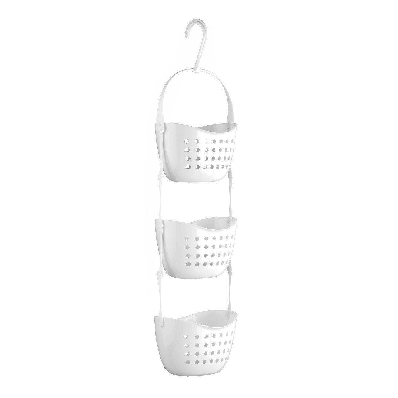 3 Tier Hanging Plastic 3pc Shower Caddy Rack Holder Basket Unit ...
