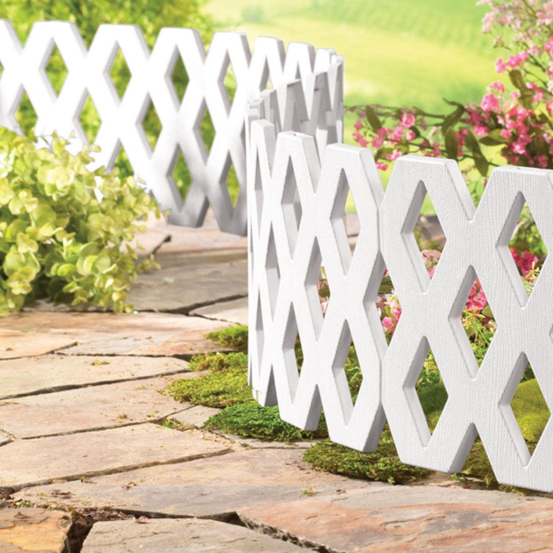 Flexible Garden Lawn Grass Edging Picket Border Panel