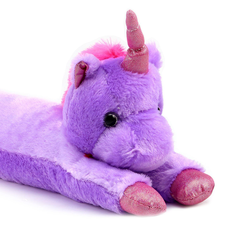 Soft Plush Unicorn Draught Draft Excluder Door Window Cushion Energy Saver New