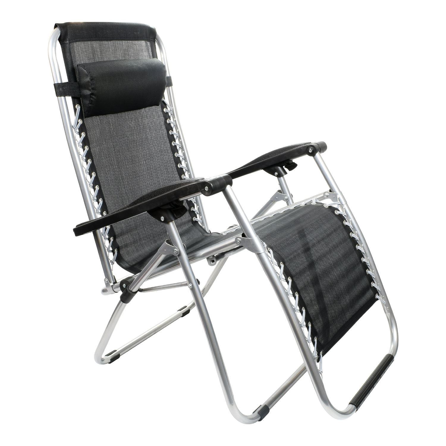folding zero gravity sun lounger chair recliner garden sun deck
