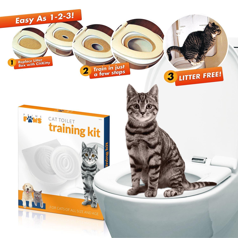 Cat Toilet Training Seat Litter Tray Kit Potty Train