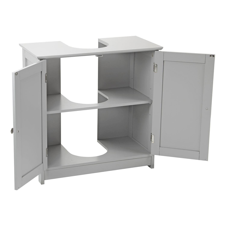 Grey-Wooden-Bathroom-Cabinet-Shelf-Cupboard-Bedroom-Storage-Unit-Free-Standing thumbnail 50