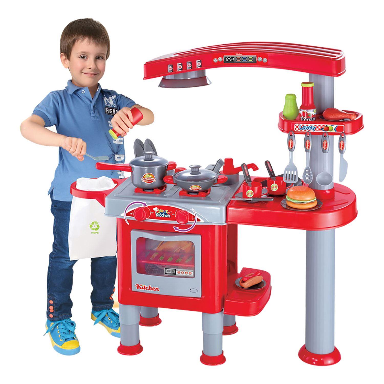 Boys Girls Childrens Kids Kitchen Play Set Pretend Toy