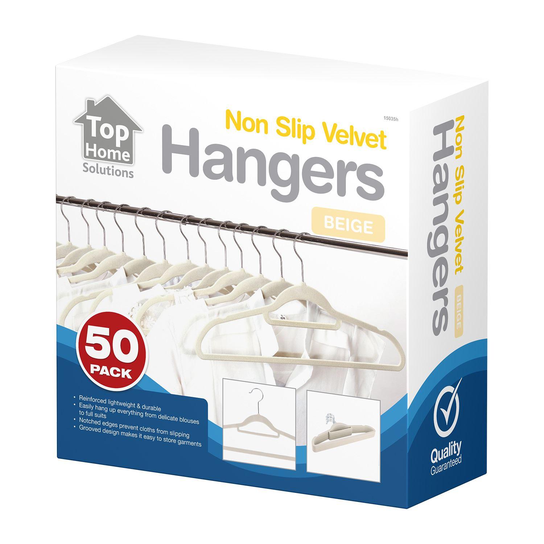 Non-Slip-Space-Saving-Velvet-Flocked-Coat-Clothes-Trousers-Hangers-Organisers thumbnail 4