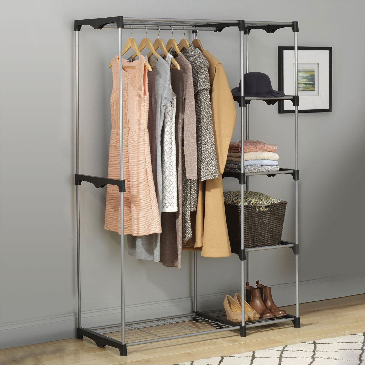 Double Rod Freestanding Closet Organizer. Image Result For Mobile  Responsive Images