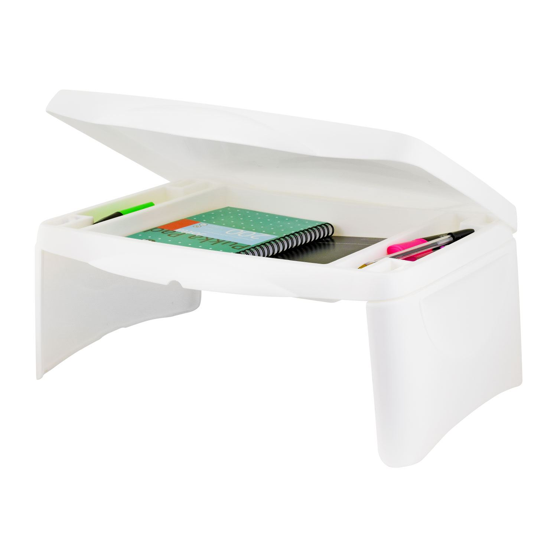Kids Portable Folding Storage Lap Desk Writing Table Box Storage