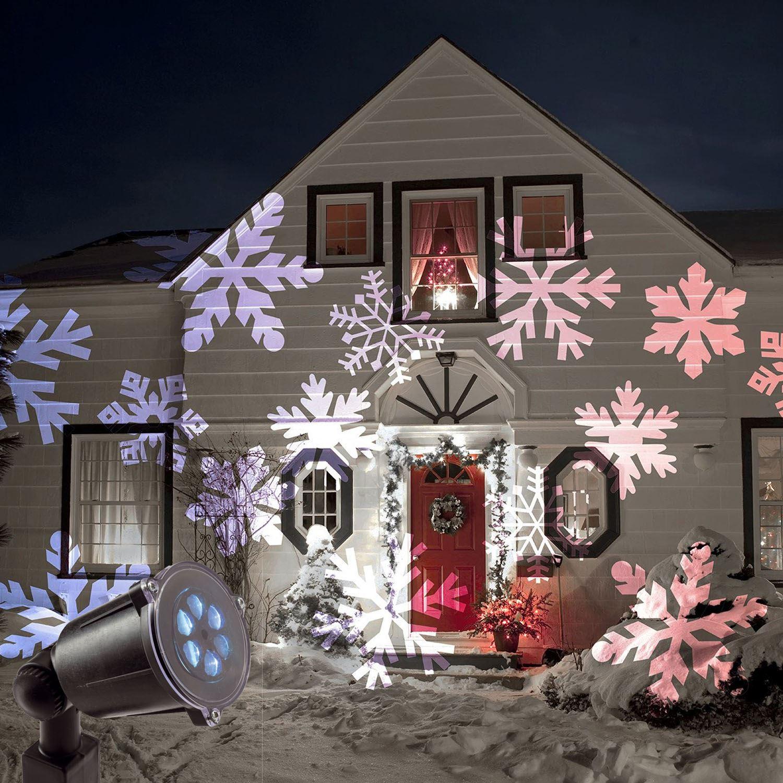 Details Of Cheap Outdoor Christmas Laser Lights Christmas: Christmas Outdoor LED Moving Snowflake Laser Light