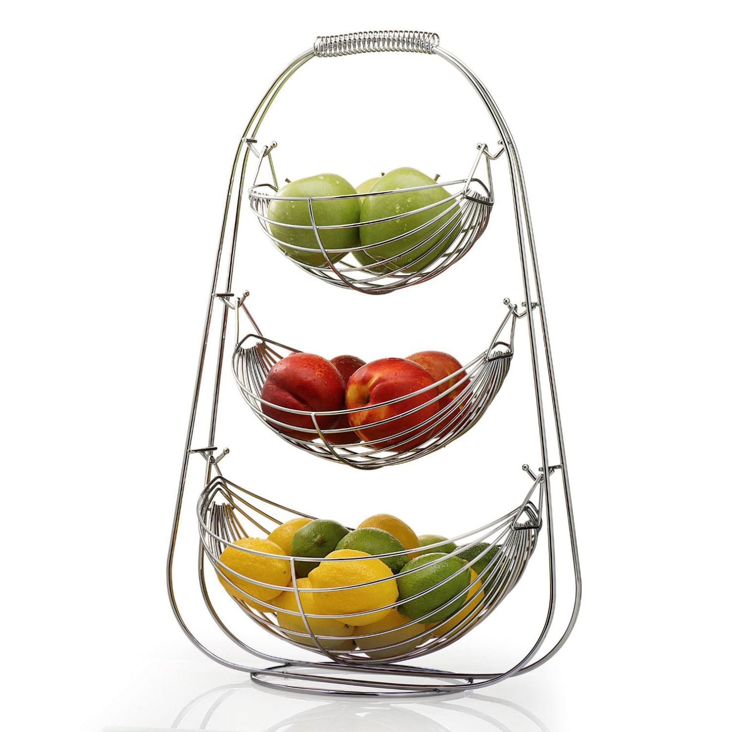 High Quality ... Wire Fruit Vegetable Basket Hammock Bowl Kitchen Storage Stand New.  Image Result For Mobile Responsive Images