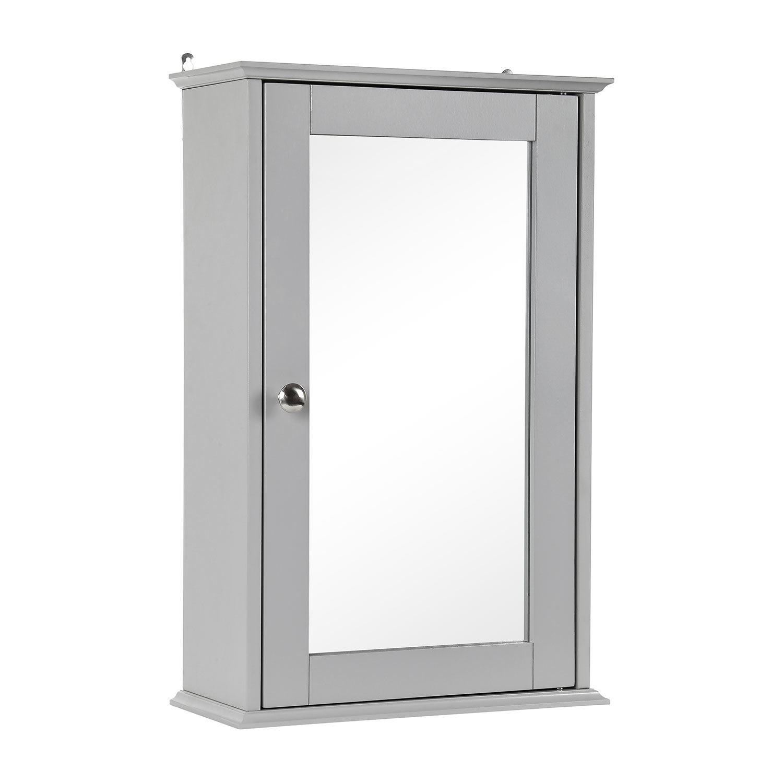 Grey-Wooden-Bathroom-Cabinet-Shelf-Cupboard-Bedroom-Storage-Unit-Free-Standing thumbnail 9