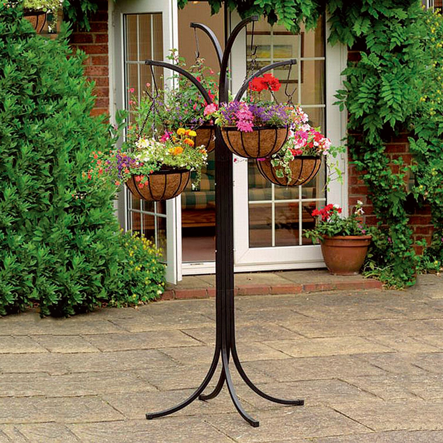 4 Arm Tree Cascade Hanging Basket Patio Stand Garden Plant ... on Hanging Plants Stand Design  id=38218
