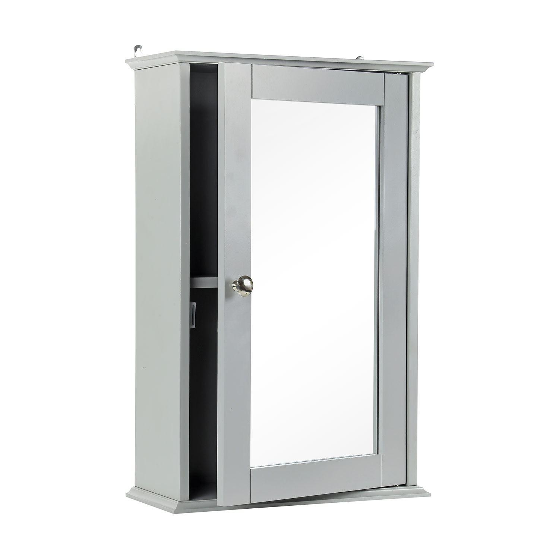 Grey-Wooden-Bathroom-Cabinet-Shelf-Cupboard-Bedroom-Storage-Unit-Free-Standing thumbnail 13