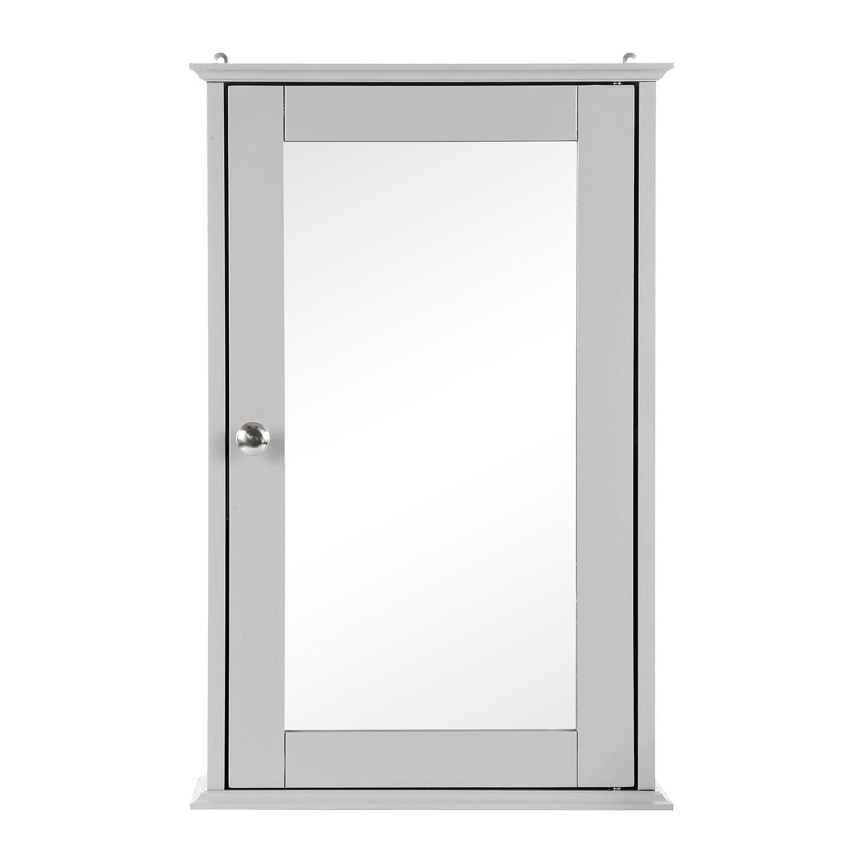 Grey-Wooden-Bathroom-Cabinet-Shelf-Cupboard-Bedroom-Storage-Unit-Free-Standing thumbnail 10