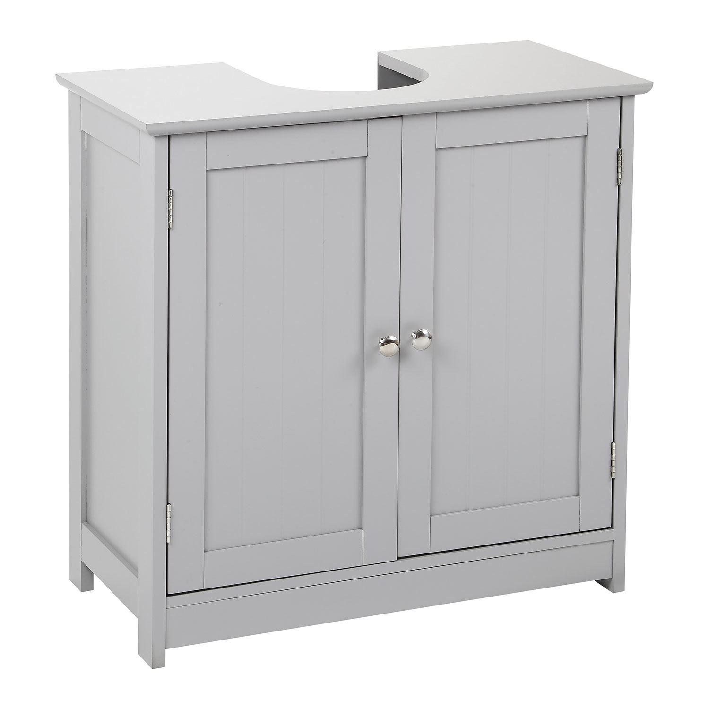 Grey-Wooden-Bathroom-Cabinet-Shelf-Cupboard-Bedroom-Storage-Unit-Free-Standing thumbnail 44