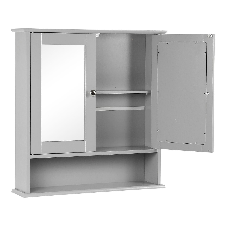 Grey-Wooden-Bathroom-Cabinet-Shelf-Cupboard-Bedroom-Storage-Unit-Free-Standing thumbnail 20