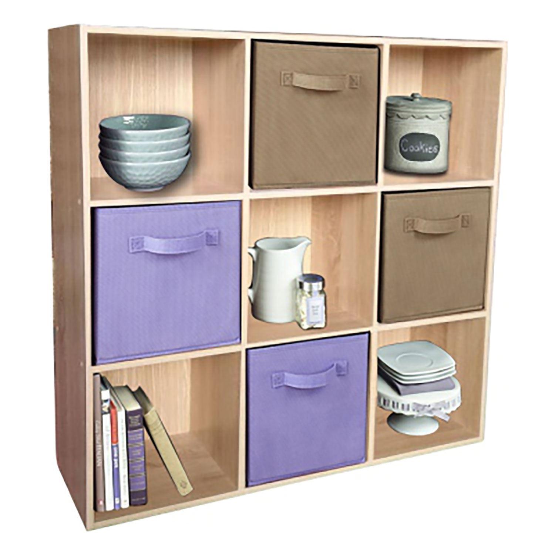 9 cube wooden bookcase shelving display shelves storage unit wood rh ebay co uk shelving storage units with baskets bathroom shelves and storage units