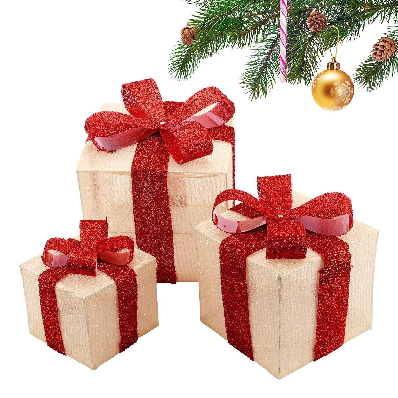Christmas Present.Details About Set Of 3 Led Light Up Festive Xmas Christmas Gift Parcel Box Set Decoration